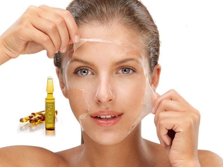 Il peeling chimico permette la rimozione delle cellule morte favorendo la escoriazione e il ringiovanimento del volto